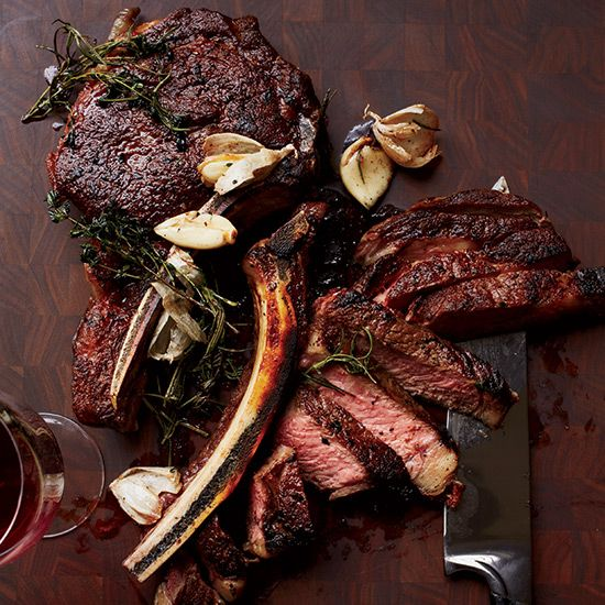 Butter-Basted Rib Eye Steaks | This steak is based on a recipe from Alain…