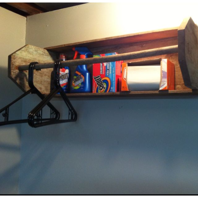 Old tool box used for laundry room