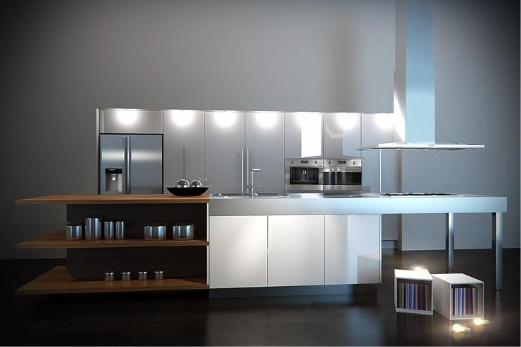 Cocina con Refri Duplex Smeg
