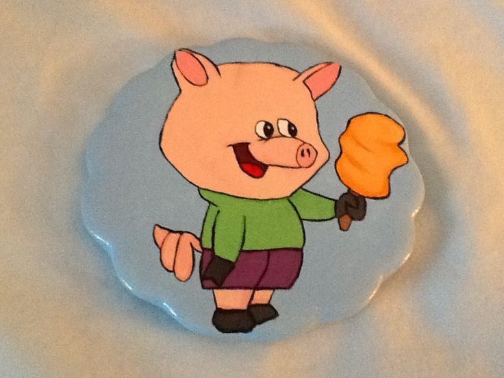 Little pig eating ice cream I painted.