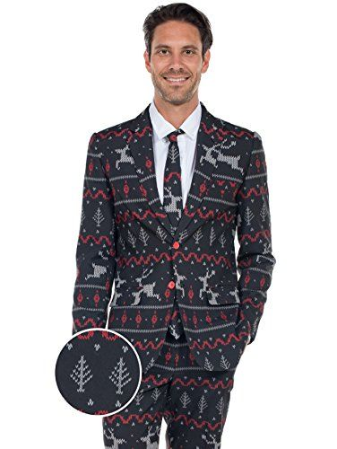The #Rage #Deer #Holiday #Christmas #Suit - #Ugly #Christmas #Sweater #Party #Suit ****Cyber Week Going on Now - Prices Valid Today Only!**** We recommend ordering 1 size larger than you normally wear. If you normally wear a size 42 jacket we recommend ordering a size 44. These suits have a slim, modern fit. Size up! All suits come complete with Blazer, Pants and Tie https://boutiquecloset.com/product/the-rage-deer-holiday-christmas-suit-ugly-christmas-sweater-party-suit/