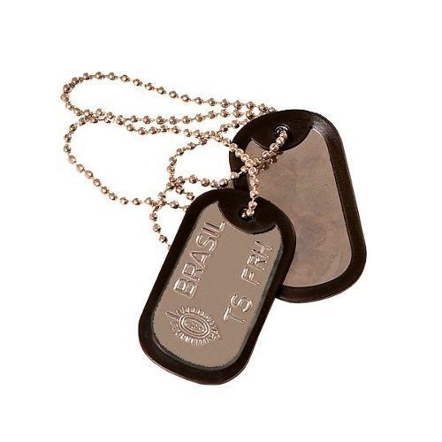 Plaqueta De Identificação Militar Dog Tag - Modelos Diversos