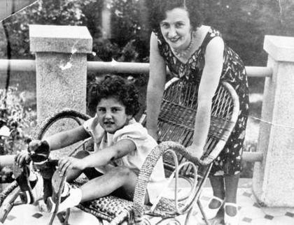 Yevgenia Ezhova (nee Feigenberg 1904-1938) with adopted child - wife of Nikolai Yezhov