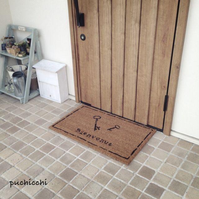 玄関マット/多肉/予備ポスト超簡単DIY/玄関/入り口のインテリア実例 - 2014-11-19 17:56:10 | RoomClip(ルームクリップ)