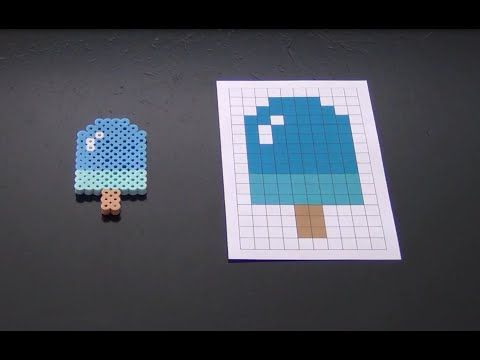 Cute Popsicle Perler Bead Pattern.  Laceys Crafts is all about sharing super simple and adorable crafts for kids. Enjoy!