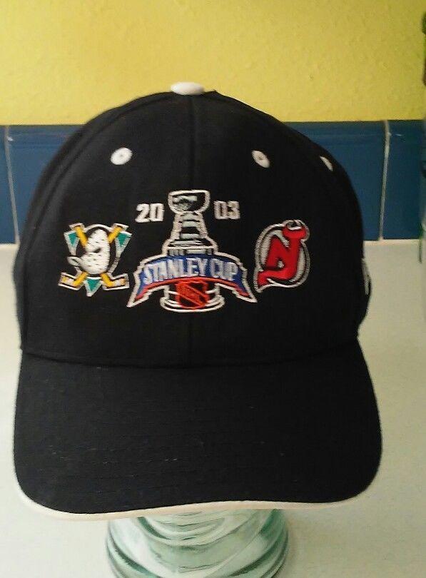 2003 Stanley Cup Finals Hat Cap Ducks Vs Devils*