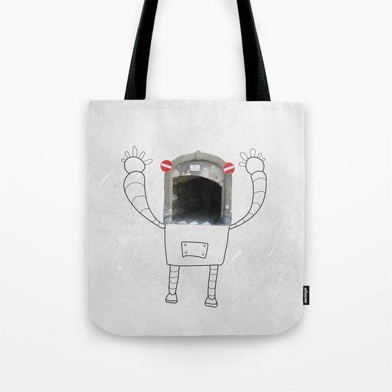 Mr.Robot in Italy Tote Bag    #lostnfoundstudio #illustration #robot #robotlover #photography #drawing #streetart #italy #travel #vector #imagination #totebag #giftidea #fabricbag #fashion #ecobag
