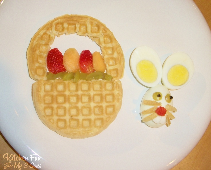 Kitchen Fun With My 3 Sons Easter Bunny Basket Breakfast