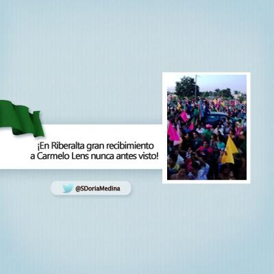 Estuvimos en Riberalta apoyando a Carmelo Lens.  El gran recibimiento de la gente nunca antes lo habíamos visto.  ¡Vamos Carmelo Lens!