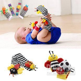 Wholesale Baby Toys - Buy New Arrival Baby Rattle Baby Toys Lamaze Garden Bug Wrist Rattle+Foot Socks 4pcs a Set, $8.9 | DHgate