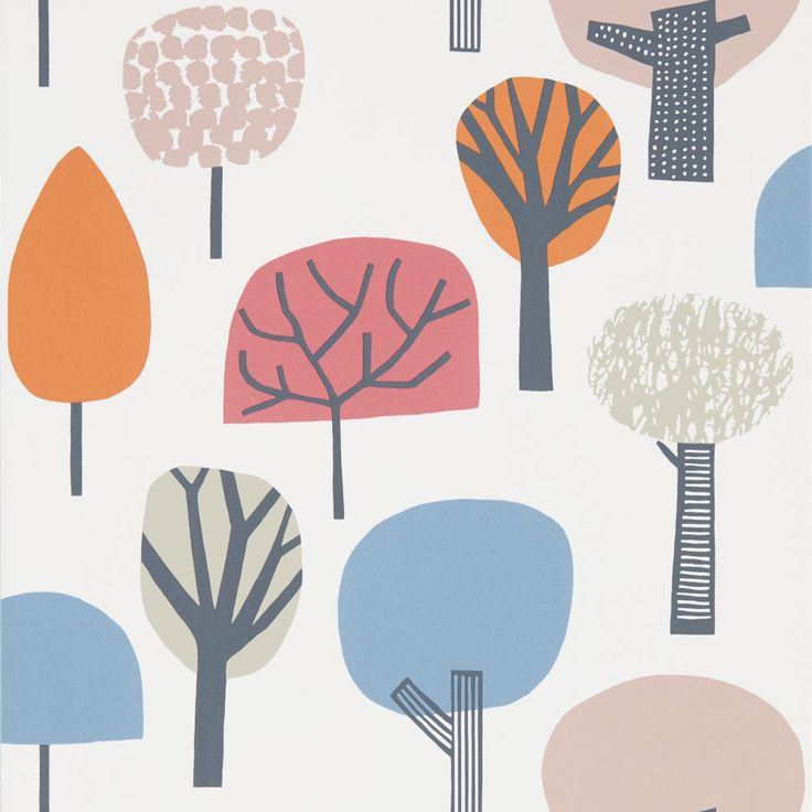Scion Liora Watermelon / Tangerine / Lake Wallpaper main image