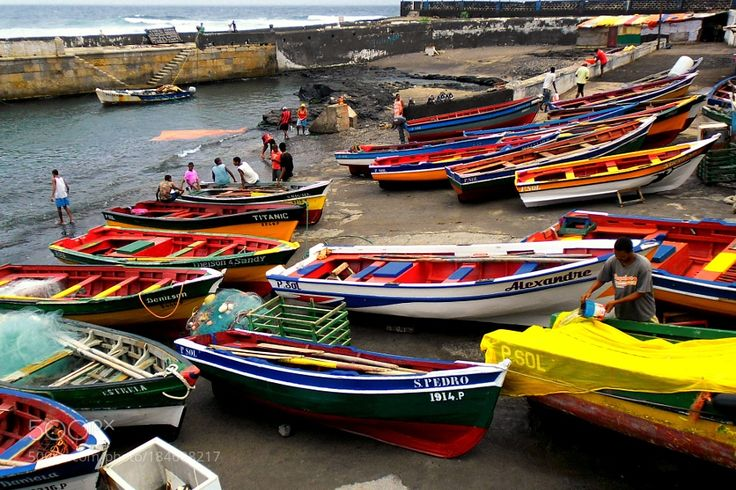 http://500px.com/photo/184688217 Fish boats at Ponta do Sol by paulgrinder -Ponta do Sol is the northernmost town on the island of Santo Antão and Cape Verde.. Tags: fishermanharborAfricaBoatsAtlanticCabo VerdePonta do SolSanto Antão