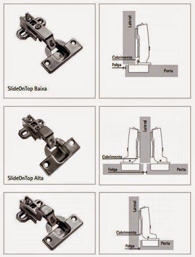 Dobradiças de Caneca (Parte I): Tipos de calços, aplicações e regulagem na montagem de móveis ~ Montagem de Móveis POM: (011) 4118-6437 São Paulo SP Brasil