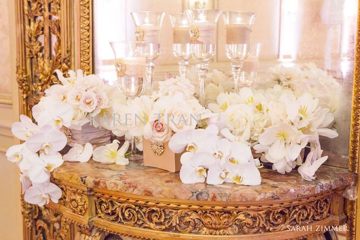 french baroque wedding:  Gold and white