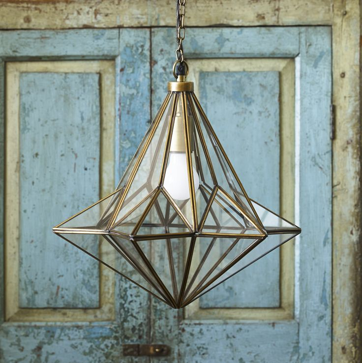 A very striking glass and brass lantern is  Connie.  Meticulously made, this gorgeous star shape works fantastically in hallways or as a centrepiece