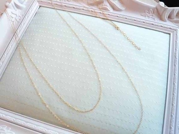 Long and Sexy Double Chain Necklace 14K Gold Filled by LAVU, $39.00