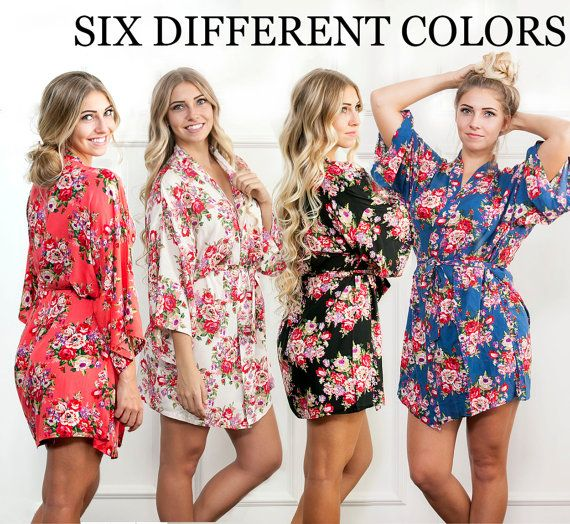 Bridesmaid Robes, Floral Cotton Robe, Bridal Party Robes, Getting Ready Robe, Bridesmaid Robes, Wedding Robe, Maternity Gown