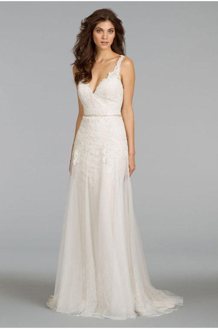 Elegant Sheath/column Tulle Lace Wedding Dress