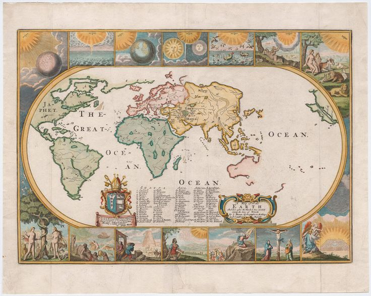 115 best old maps images on pinterest antique maps old cards moxans map with a view of the world as known in 1681 old mapsantique sciox Gallery