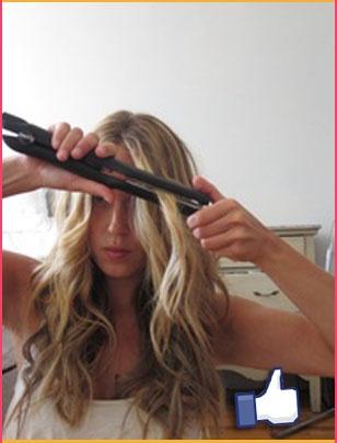 Para hacer ligeros rizos en tu cabello, utiliza una plancha delgada. #Hair #Curly #Look