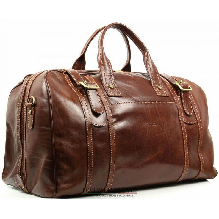 Chiarugi Leather Luggage Duffle Bag Weekender