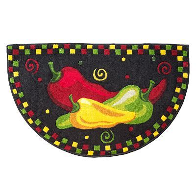 Chili Pepper Decor Kitchen Rugs
