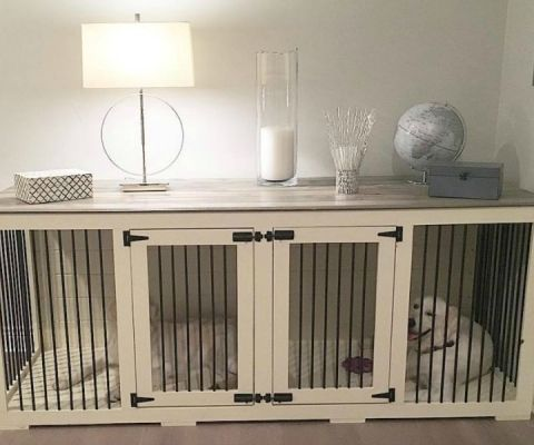 feat beautiful dog kennel console table by B&B Kustom Kennels