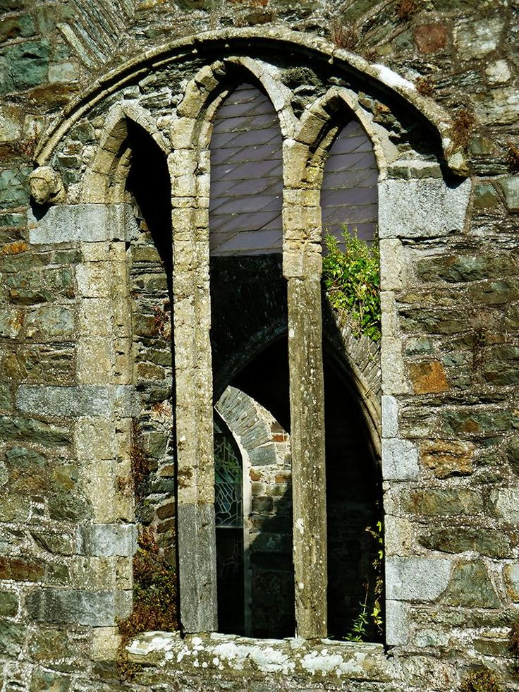 My photo of old church window taken in county Cork.