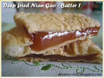 Fried Nian Gao 5 Different Batter