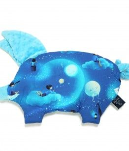 Sleepy Pig pillow -moon copllection - Light turquoise