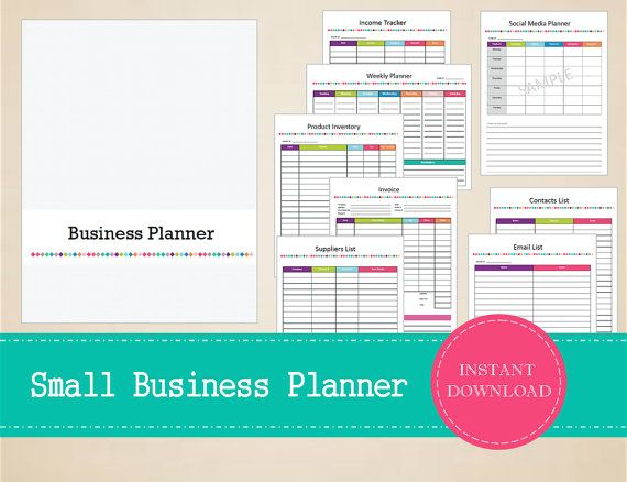 Printable Small Business Planner  Home by MBucherConsulting