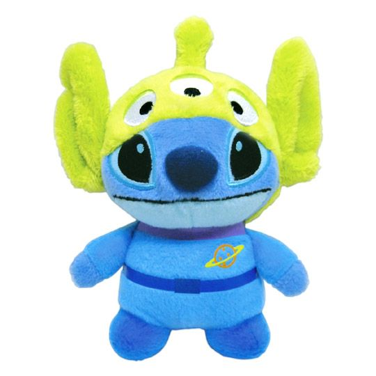 Stitch dressed as green alien- also is a speaker
