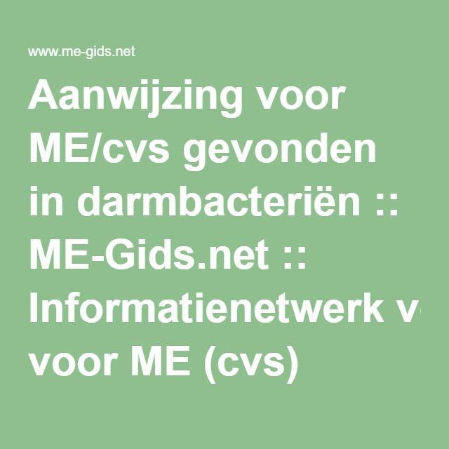 Aanwijzing voor ME/cvs gevonden in darmbacteriën :: ME-Gids.net :: Informatienetwerk voor ME (cvs)
