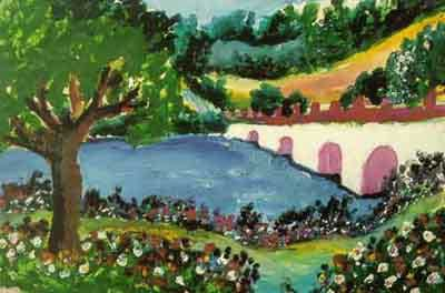 A painting by Esref Armagan, who was born blind.
