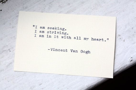 VINCENT VAN GOGH quote typed on Vintage Typewriter by InThisRoom, $9.00