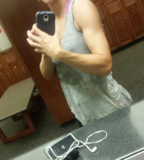 There is just something about a sweaty gym pic.. :/ haha