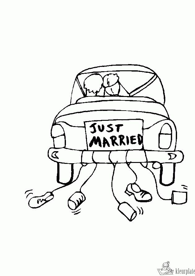kleurplaat bruiloft kleurplaten bruiloftsidee 235 n
