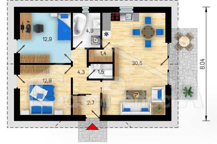 Proiectul se poate modifica si adapta cerintelor dvs. ex: putem marii sau micsora casa, se pot adauga camere, se poate adauga beci. Proiectam economic! Toate cantitatile sunt calculate astfel incat sa beneficiati de un cost optim de punere in executie. Asiguram arhitectura functionala fara a pozit