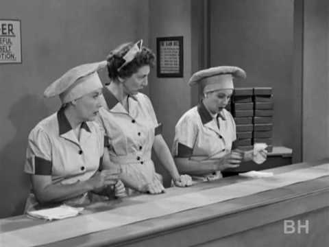 """""""I Love Lucy"""" show in the Chocolate Factory"""