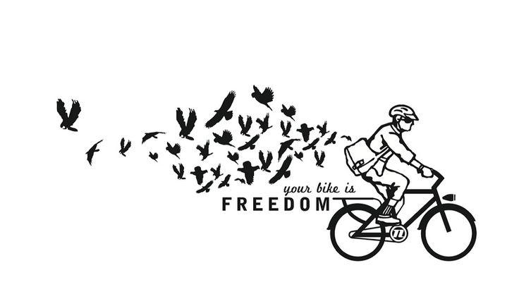 Your bike is freedom ! / Votre bicyclette c'est la liberté !