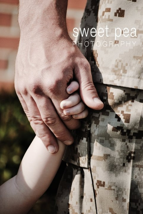 Marines Holding Hands