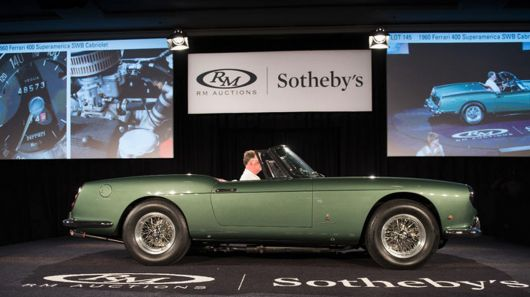 Top sale honors for the Amelia Island Concours d'Elegance week went to the 1960 Ferrari 40...