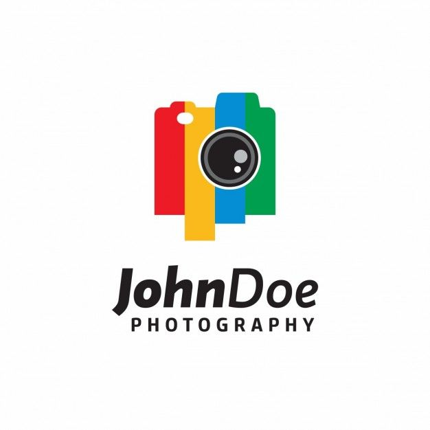 Full color logo for a photography studio Free Vector
