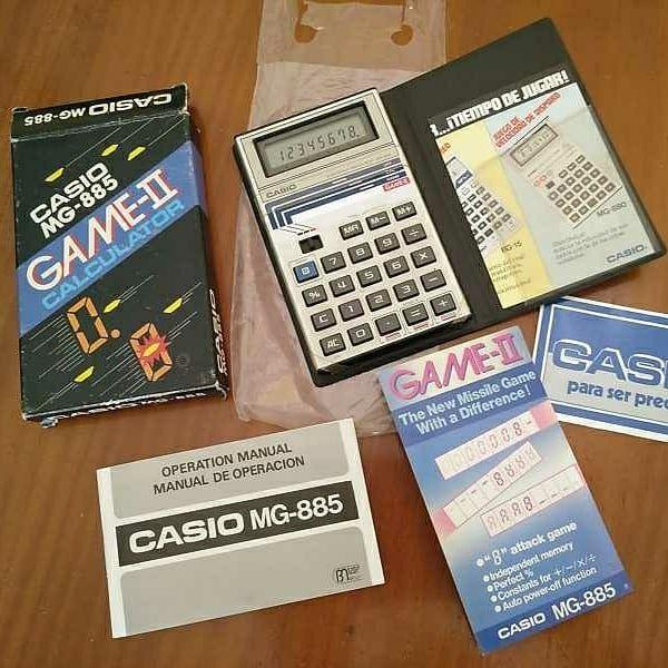Casio Mg 885 Game Ii Electronic Calculator Made In Japan Cakculadora Juego Sin Usar Años 80 Completa Funcionando Sin Señale Calculadora Electronic Juegos