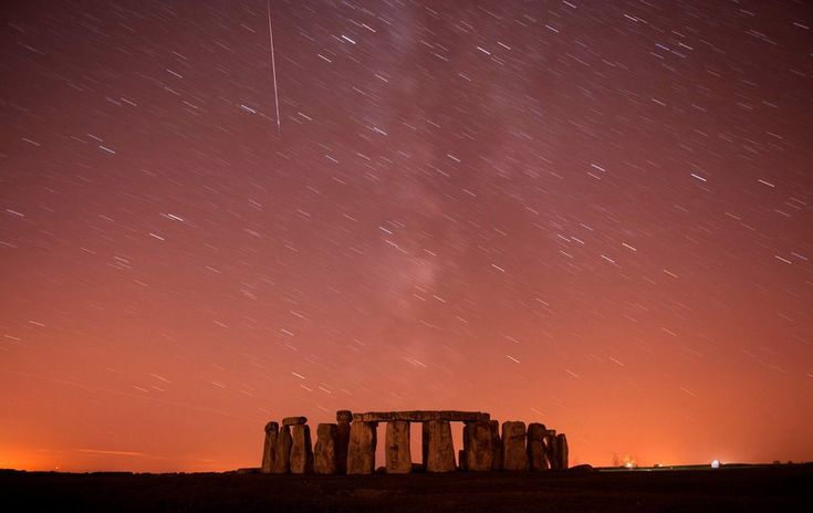 Meteor Sweeps Over Stonehenge