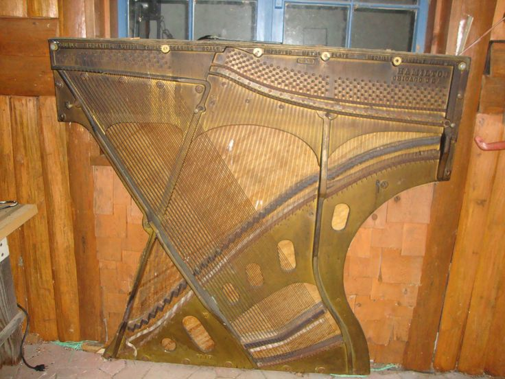 Deconstructed Upright Piano Turn The Strings And