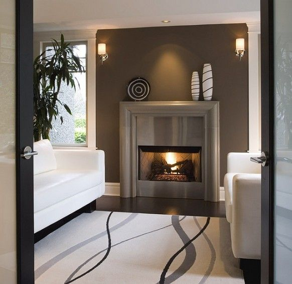 fireplace surround ideas cast concrete mantel stainless steel modern home interior - Fireplace Surround Ideas