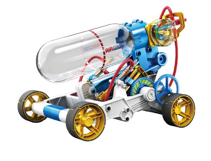 空気の力でパワフルダッシュ! - エアエンジンカーは乾電池などの電源もモーターもありません。空気の力だけで走るとってもエコなクルマです。その秘密は圧縮空…