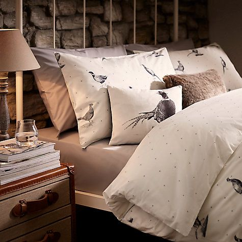 buy john lewis pheasant scene duvet cover and pillowcase. Black Bedroom Furniture Sets. Home Design Ideas
