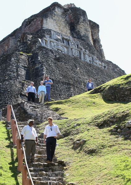 Prince Harry Photos - Prince Harry visits Xunantunich Mayan Temple on March 3, 2012 in Benque Viejo del Carmen, Belize. The Prince is visiting Belize as part of a Diamond Jubilee tour where he will be visiting Belize, the Bahamas, Jamaica and Brazil as a representative of Queen Elizabeth II. Belize is a Commonwealth realm with a population of around 350,000 and boasts the second longest barrier reef in the world. With much of the country covered in tropical jungle and a diversity of…